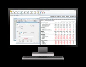 Menüaufbau der Buchhaltungssoftware von SelectLine